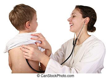 enfant, docteur