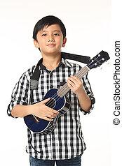 enfant, guitare