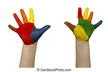 enfant, mains