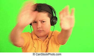 enfant, musique écouter, danse