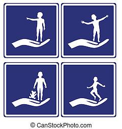 enfant, signes, soin