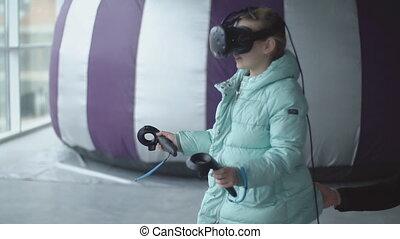 enfant, virtuel, jeux, réalité, jeux