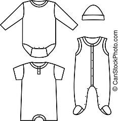 enfant, wear., vecteur, illustration
