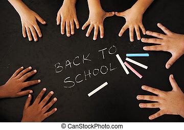 enfants, à, école, classe