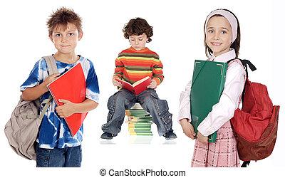 enfants, étudiants