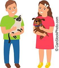 enfants, animaux familiers