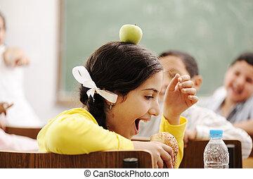 enfants, apprentissage, education, jouer, classe, bonheur, togetherness