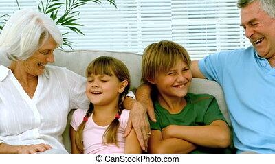 enfants, c, grands-parents