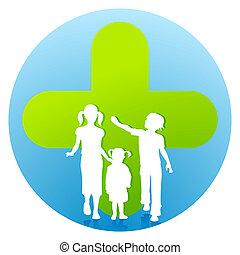 enfants, clinique, pédiatre