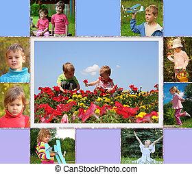enfants, collage