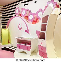 enfants, coloré, salle