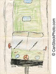 """enfants, dessins, """"bus"""""""