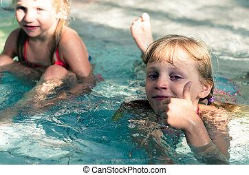 enfants, eau