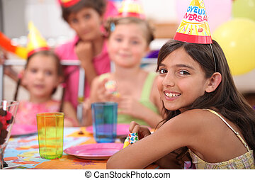 enfants, fêtede l'anniversaire