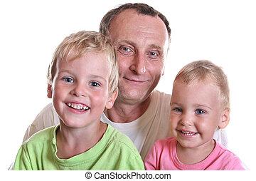 enfants, grand-père