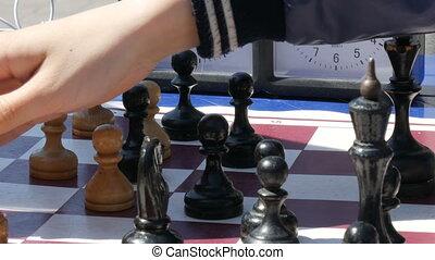enfants, jeu, kamenskoye, ukraine:, extérieur, tournoi, -, ...