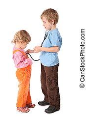 enfants jouer, docteur
