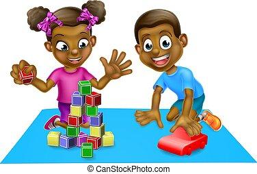 enfants, jouets, jouer