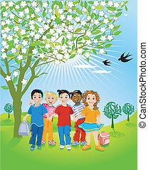 enfants, nature
