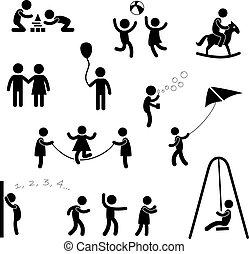 enfants, pictogramme