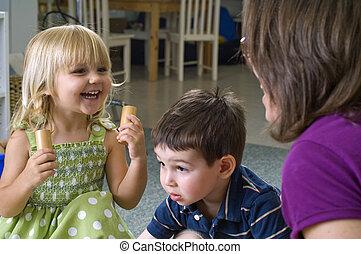 enfants, préscolaire