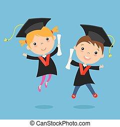 enfants, remise de diplomes