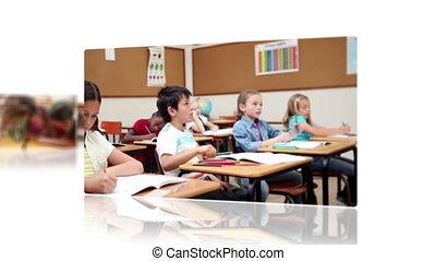 enfants salle classe, vidéos