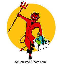 enfer, aller, mondiale, handbasket