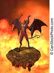 enfer, diable, rages