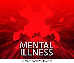 enfermedad, inkblot, mental, plano de fondo
