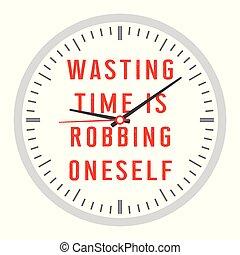 enfermedad que consume, robo, sí mismo, tiempo