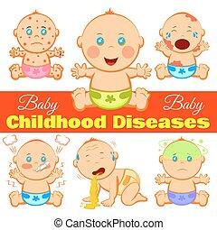 enfermedades, niñez, plano de fondo