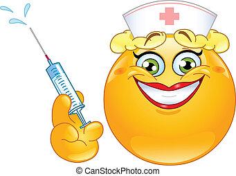 enfermeira, emoticon