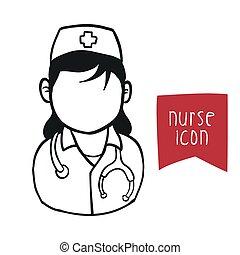 enfermeira, mulher