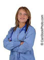 enfermeira, ou, doutor
