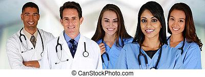enfermeiras, doutores