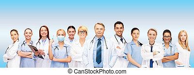 enfermeiras, doutores, grupo, ou, equipe
