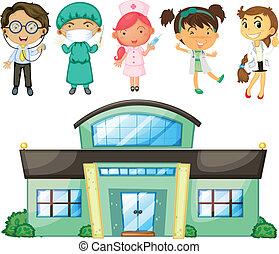enfermeiras, doutores hospital