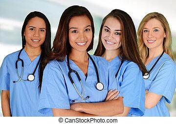 enfermeiras, grupo