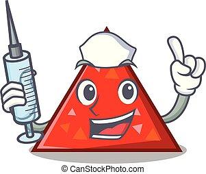 enfermera, carácter, estilo, triangel, caricatura