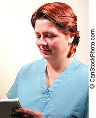 enfermera, o, médico médico, 6
