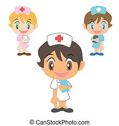 enfermera, refers, fondo