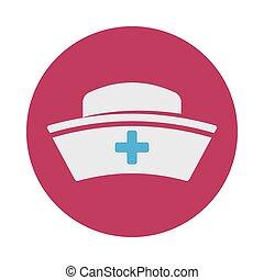enfermera, sombrero
