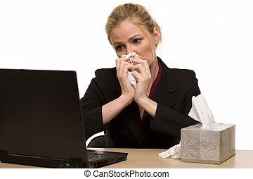 enfermo en el trabajo