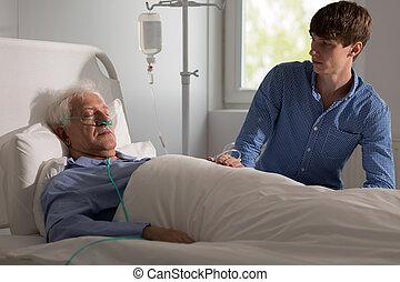 enfermo, terminally, hombre