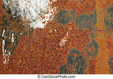 enferrujado, ferro, textura