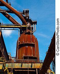 Enferrujado,  Industrial, Fábrica, canos