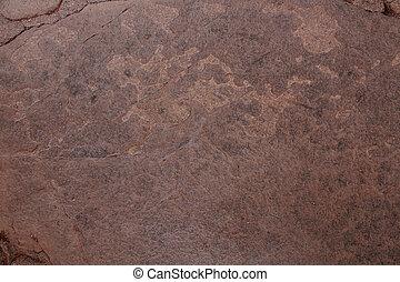 enferrujado, marrom, textura pedra, fundo