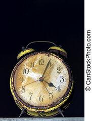 enferrujado, relógio