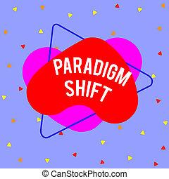 enfoque, empresa / negocio, shift., objeto, cambio, o, ...